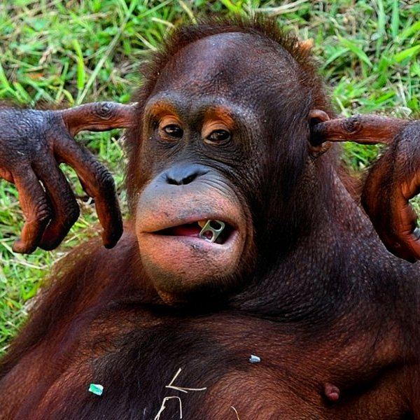 Исследование, природа, животные, фауна, эволюция, планшет, игры, игра, Орангутанов научат играть в видеоигры