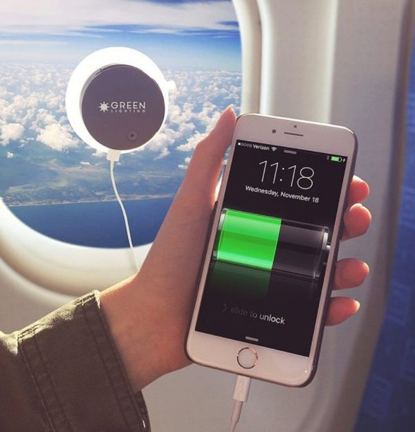 рецензия,смартфон,планшет, Зарядное устройство на основе фотоэлементов: теперь можно в самолёте